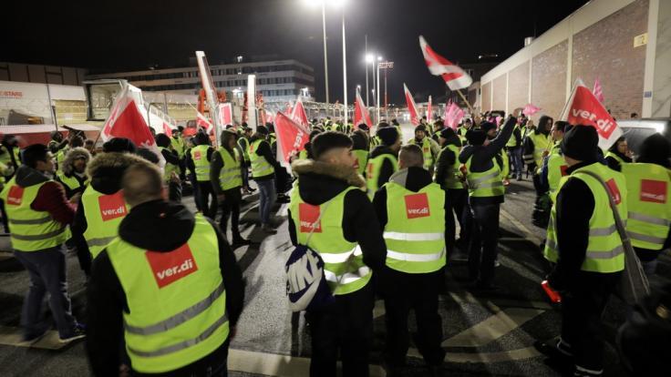 Ein Warnstreik sorgte am Hamburger Flughafen für erhebliche Behinderungen.