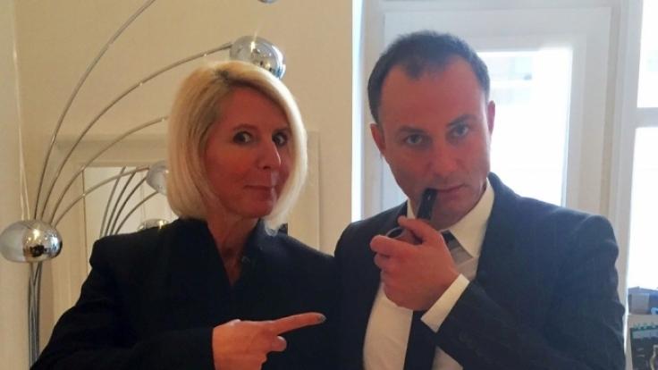Maklerin Anke Dietz & Makler Christian Petri. (Foto)
