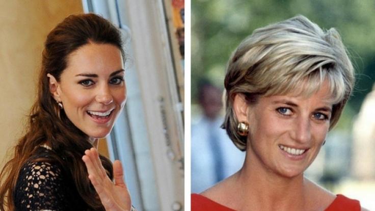 Kate Middleton und Lady Diana.