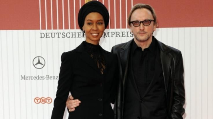 Marius Müller-Westernhagen 2008 mit seine Ex-Frau Romney.