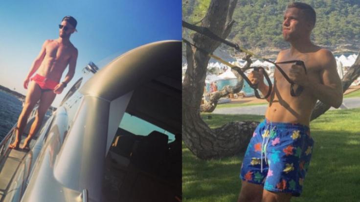 Shkodran Mustafi und Lukas Podolski genießen ihren Urlaub an der Sonne.