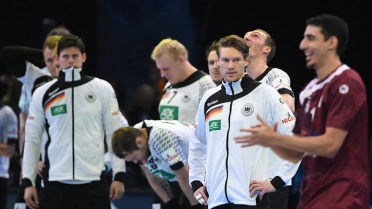 Die deutsche Handball-Nationalmannschaft musste bei der Handball-WM in Frankreich 2017 eine herbe Niederlage gegen Katar einstecken und die Träume von der Weltmeisterschaft begraben. (Foto)