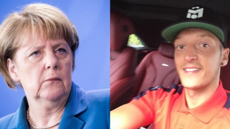 Haben tierische Doppelgänger: Angela Merkel und Mesut Özil. (Foto)