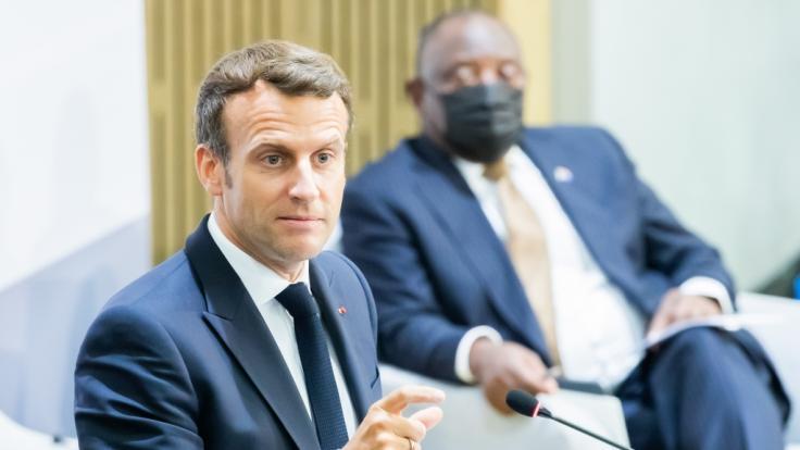 Emmanuel Macron, Präsident von Frankreich, wurde vor laufender Kamera geohrfeigt.