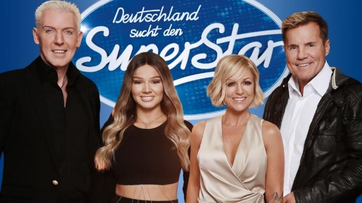 """Die Jury bei """"Deutschland sucht den Superstar 2017"""" (von links nach rechts): H.P. Baxxter, Neuzugang Shirin David, Michelle und Urgestein Dieter Bohlen. (Foto)"""