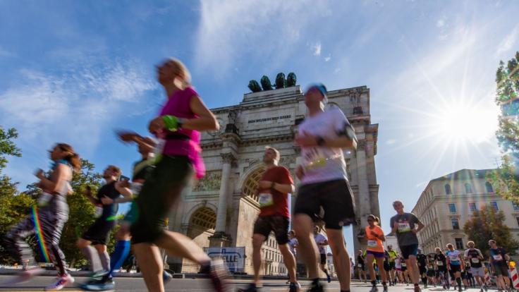 Am 10.Oktober messen sich Läufer beim München Marathon. (Foto)