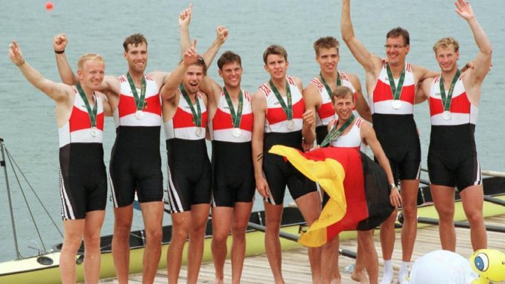 Roland Baar (links), Ruderer im Deutschland-Achter und Olympia-Sieger, ist bei einem Unfall ums Leben gekommen.