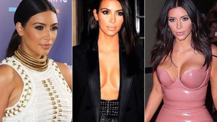 Von allem zu viel: Kim Kardashians Look kommt bei Modexperten alles andere als gut weg.
