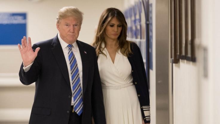 Melania Trump leidet unter den Affärengerüchten.