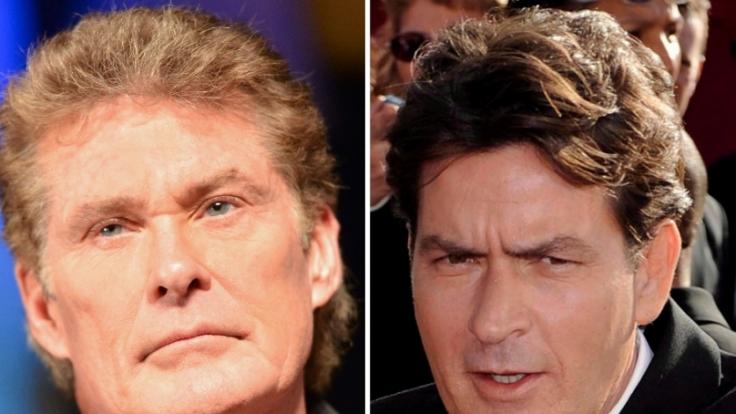 David Hasselhoff und Charlie Sheen haben schon des Öfteren mit Totalausfällen im Drogenrausch schockiert.