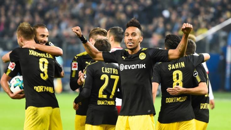 Gegen Borussia Mönchengladbach würde der BVB am Samstag (23.09.2017) gern einen ähnlichen Triumph feiern wie beim 0:3-Sieg gegen den Hamburger SV am vergangenen Mittwoch. (Foto)