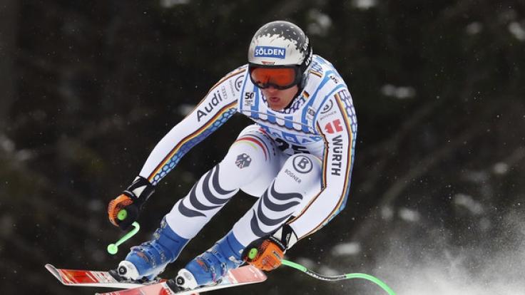 Thomas Dreßen ging für den DSV im norwegischen Kvitfjell beim Super-G der Herren an den Start.