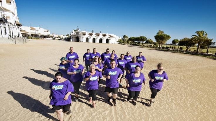 In der heißen Sonne Andalusiens wollen die Kandidaten ihr Fett wegkämpfen.