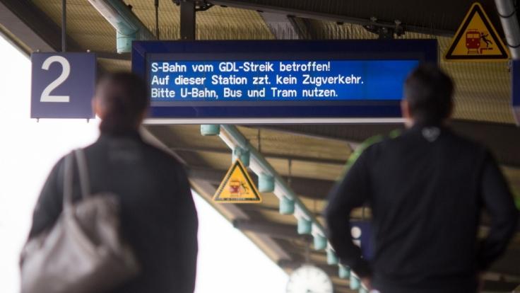 Behinderungen im Bahnverkehr wegen des GDL-Streiks.