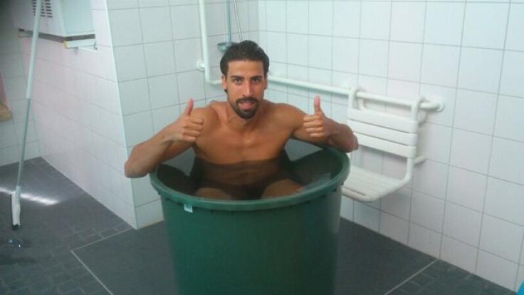 Sami Khedira kühlt sich ab. (Foto)