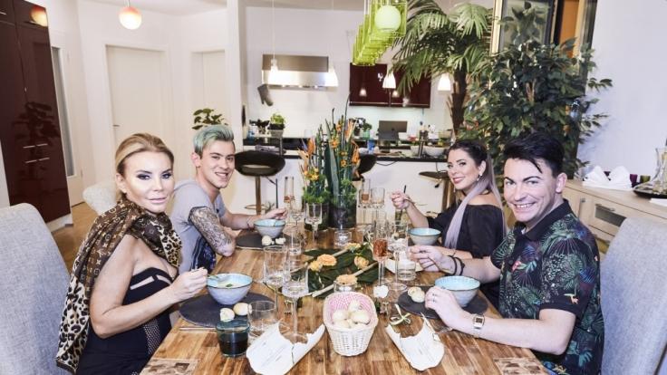 "Tatjana Gsell, Daniele Negroni, Jenny Frankhauser und Matthias Mangiapane kochen bei ""Das perfekte Dschungel-Dinner"" um die Wette. (Foto)"