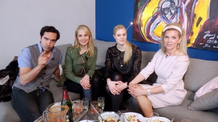 Thomas Maximilian Held, Larissa Marolt, Silvia Schneider und Prinzessin Maja v. Hohenzollern. (Foto)