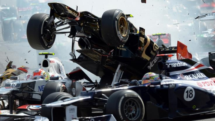 Unfälle sind in der Formel 1 leider an der Tagesordnung. (Foto)