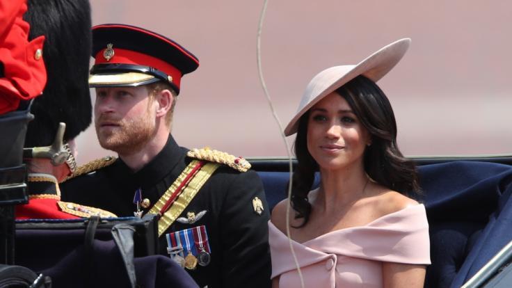 Prinz Harry und Herzogin Meghan bei der Militärparade