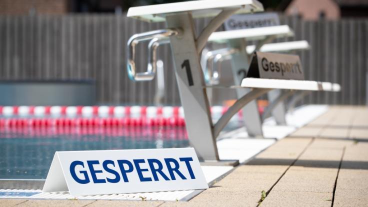Das Freibad in Borgholzhausen (Nordrhein-Westfalen) musste aufgrund von Wasserknappheit vorübergehend geschlossen werden. (Foto)