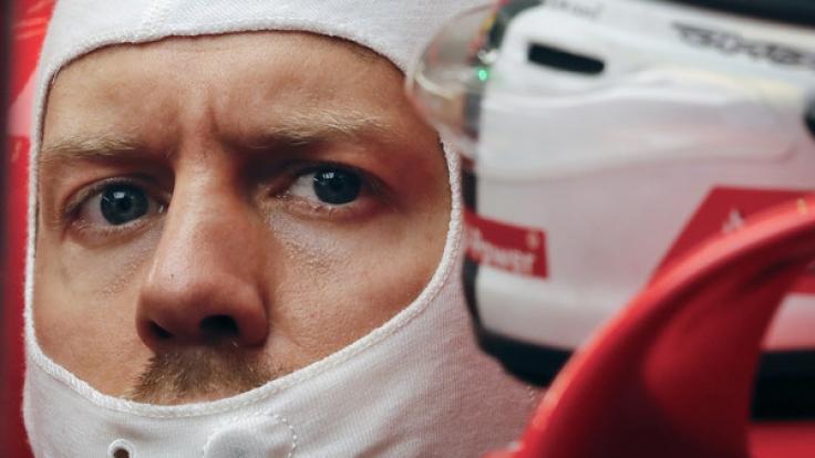 Formel-1-Pilot Sebastian Vettel hat beim Großen Preis von Bahrain den Sieg fest im Blick.
