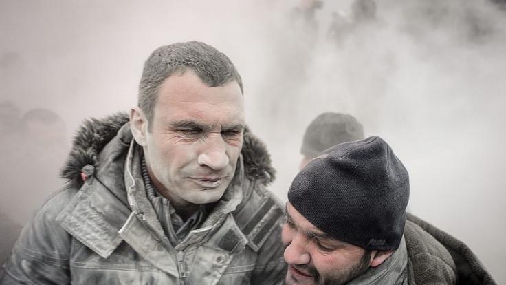 Klitschko in Kiew: Bei der Revolution auf dem Majdan beißt der Oppositionsführer auf die Zähne.