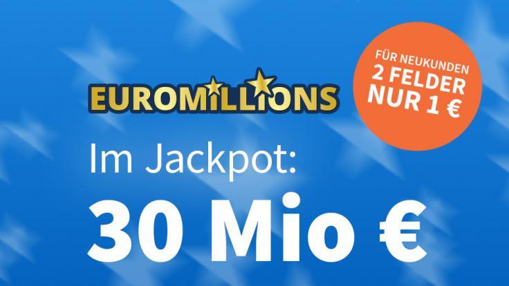 Am Freitag liegen 30 Mio. Euro im Jackpot bei EuroMillions