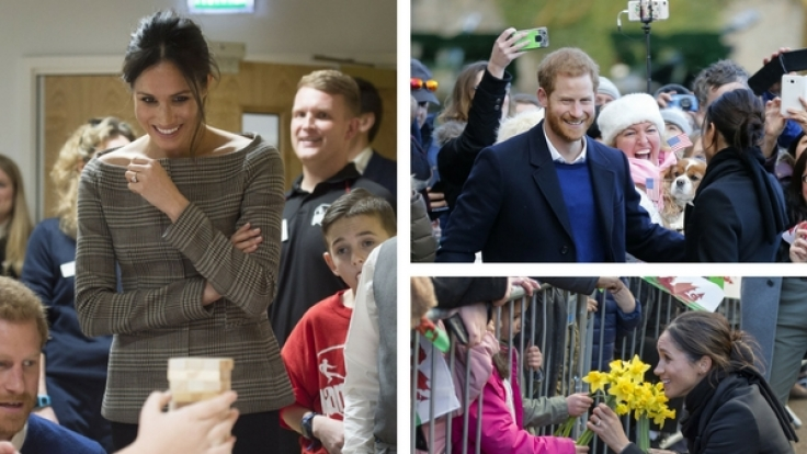 Meghan Markle und Prinz Harry wurden wie Popstars in Cardiff empfangen. (Foto)