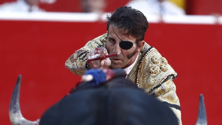 Torero José Padilla, hier bei einem Stierkampf im Juli 2016, wurde bei einem Schaukampf in Valencia von einem Stier gerammt und schwer verletzt.