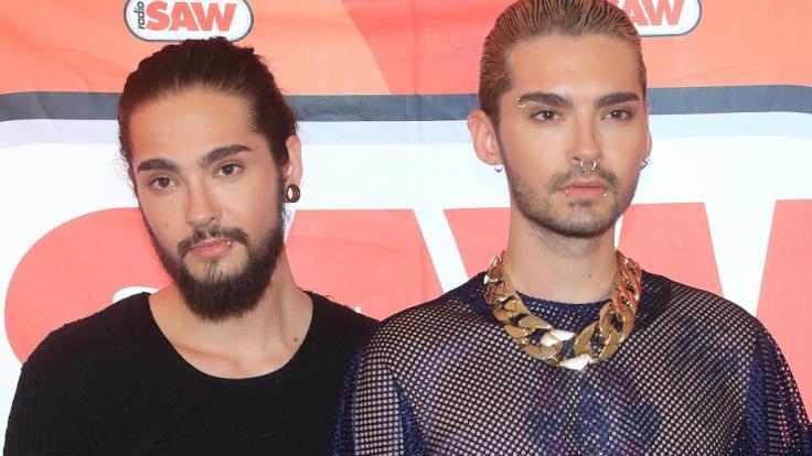 Die Zwillinge Tom und Bill Kaulitz (von links) der Magdeburger Band Tokio Hotel. (Foto)