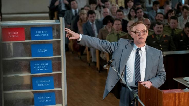 Jared Harris in einer Szene als Wissenschaftler Waleri Legassow.