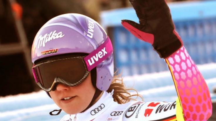 Viktoria Rebensburg war die einzige deutsche Starterin am Kronplatz.