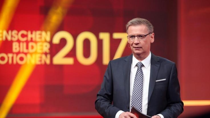 """Günther Jauch präsentiert den Jahresrückblick """"2017! Menschen, Bilder, Emotionen"""" bei RTL. (Foto)"""