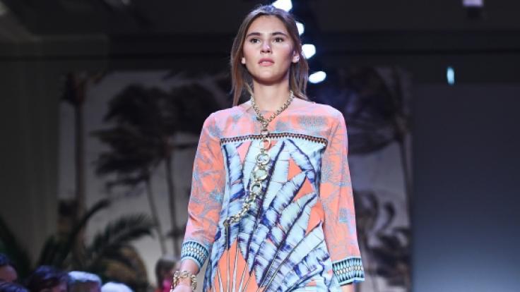 Stefanie Geisinger auf der Berliner Fashionweek. (Foto)