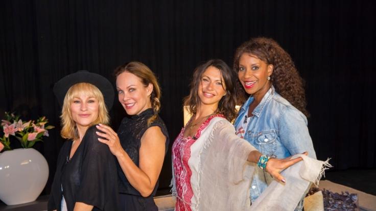 """Die """"Promi Shopping Queen""""-Kandidatinnen (von links nach rechts): Dorkas Kiefer, Sonja Kirchberger, Jana Pallaske und Liz Baffoe. (Foto)"""