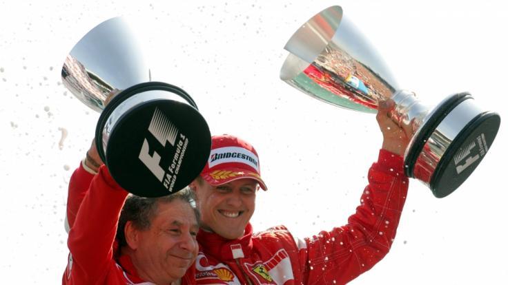 Ex-Ferrari-Teamchef Jean Todt zählt zu Schumis Vertrauten. (Foto)