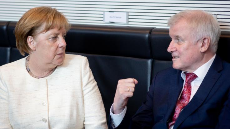Angela Merkel und Horst Seehofer waren zuletzt auf Konfrontationskurs. (Foto)