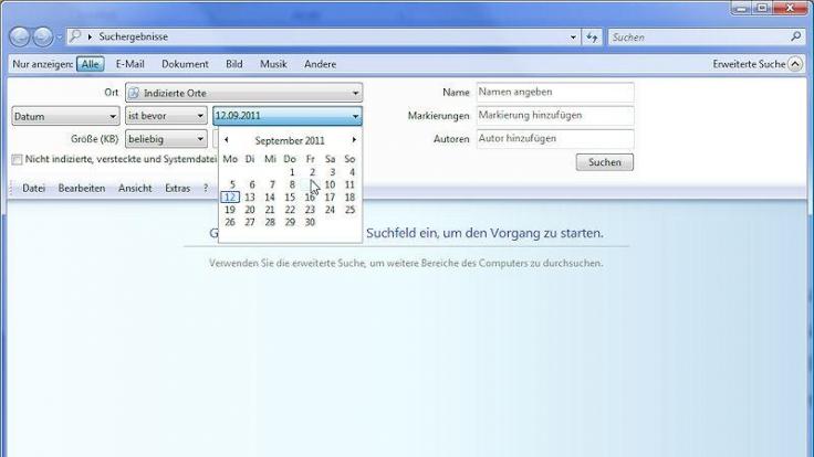 Dateien nach Datum suchen (Foto)