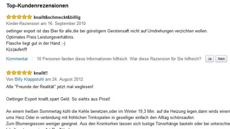 Die Kinder-Rezension zum Oettinger Export befasst sich auch mit anderen Punkten als nur dem Geschmack. (Foto)
