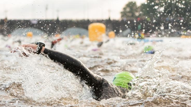 Schwimmen fällt bei Ironman in Hamburg am 29.07.2018 aus. (Foto)