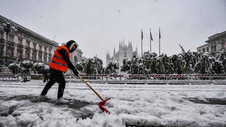Tief Hermine schneit Europa ein. (Foto)