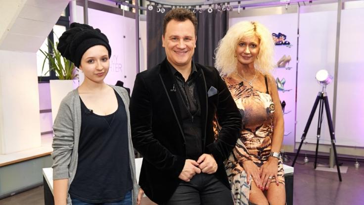 (v.l.): Kandidatin Laura,Guido Maria Kretschmer und Aisha.