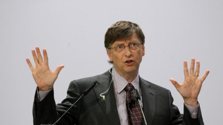 Microsoft-Gründer Bill Gates ist wieder an die Spitze der Superreichen geklettert. (Foto)