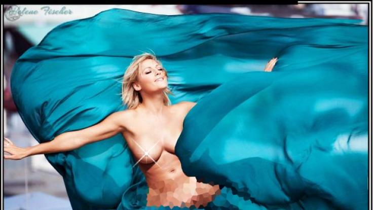 Dieses Bild dürfte Helene-Fans bekannt sein. Nur im Original trug die Sängerin ein Kleid.