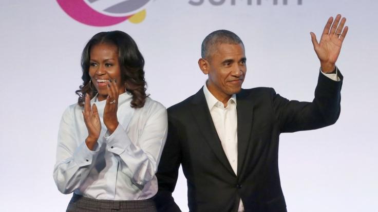 Michelle und Barack Obama zeigen sich am Valentinstag ganz verändert. (Foto)