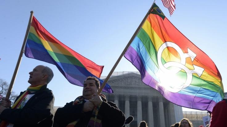 Demo für die Homo-Ehe in den USA. (Foto)