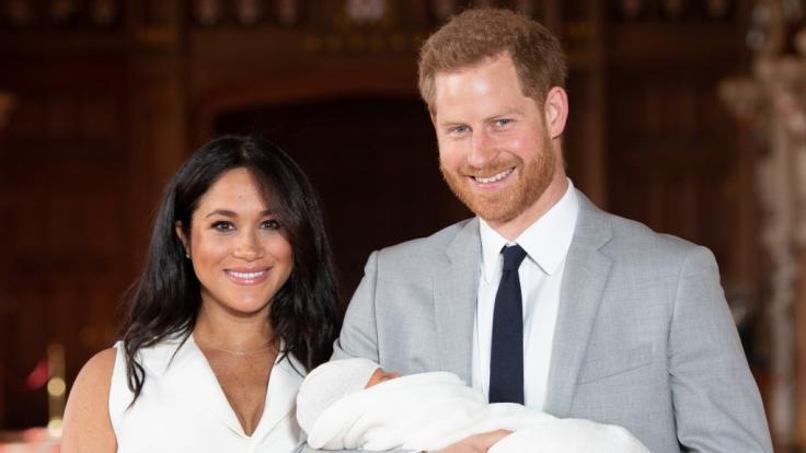 Meghan Markle und Prinz Harry im Jahr 2019 mit ihrem Sohn Archie. (Foto)