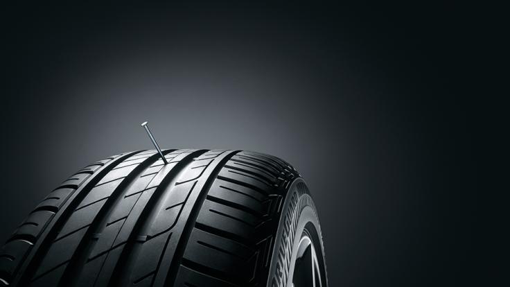 Bridgestone hat einen Reifen entwickelt, der das Weiterfahren auch mit einem Platten ermöglicht. (Foto)
