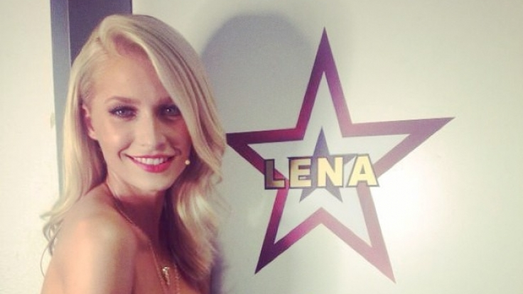 Lena Gercke beim Dreh der neuen Staffel Das Supertalent.
