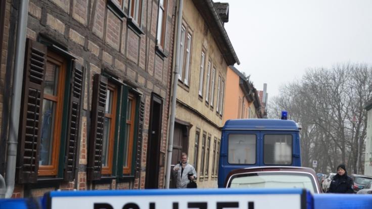 In Bad Langensalza in Thüringen starb eine 34 Jahre alte Frau durch einen Schuss aus der Pistole eines Polizisten. (Foto)